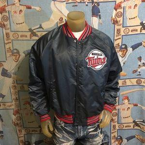 Vintage Minnesota Twins Baseball Nylon Bomber XL